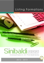 Sinibaldi C&F - Catalogue de formations
