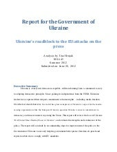 Sis 645 report for the government o...
