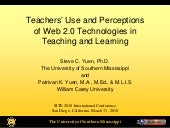 Teachers Use and Perceptions of Web 2.0 Technologies