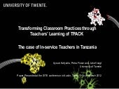 Transforming classroom practices th...