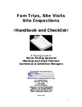 Guide to Site Inspections & Familiarization Trips