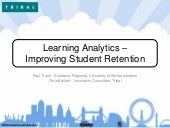 Learning Analytics - Improving Student Retention