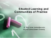 Situated learning and communities o...