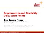 Impairments and Disability: Points ...