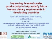 Improving livestock water productiv...
