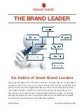THE BRAND LEADER: Six habits of great Brand Leaders