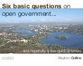 Six basic questions on open government