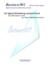Six Sigma Marketing Lessons