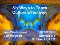 Six ways to teach culture effectively