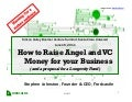 Raising Angel and VC Money for Aging-Related Startups