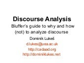 Skeptical Discourse Analysis for no...
