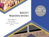 Introduction to TAACCCT Repository Services