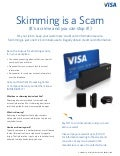 Skimming is a Scam