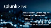 New Splunk Management Solutions Update: Splunk MINT and Splunk App for Stream