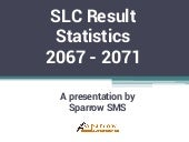 SLC Result Nepal Stats for 2067 to 2071
