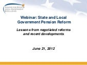The Pension reform Landscape