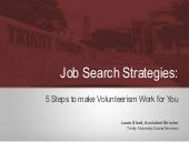 Job Search Strategies: 5 Steps to Make Volunteerism Work for You