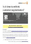 [mobileYouth] Is it time to rethink customer segmentation?