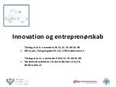 Slide share innovation og entreprenørskab dpf  nov-2014