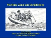 MARITIME ZONE AND JURISDICTION