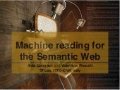 Machine reading for the Semantic Web