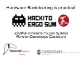 [Hackito2012] Hardware backdooring ...