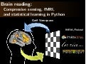 Brain reading, compressive sensing, fMRI and statistical learning in Python