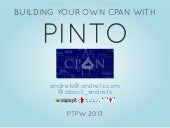 Building your own CPAN with Pinto