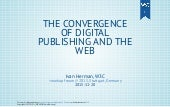 The convergence of Publishing and the Web