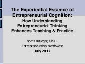 The Experiential Essence of Entrepr...