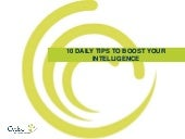 10 Daily Tips to Boost Your Intelligence
