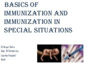 immunization in special situations