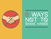 6 Ways Not To Shake Hands (By Bernard Marr. Redesigned by Ethos3.)
