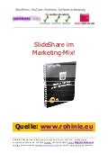 SlideShare im Marketing-Mix. Einige Tipps!