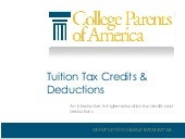 Higher Education Tax Credits and Deductions