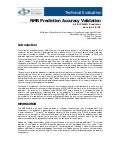 NMR Prediction Accuracy Validation
