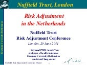 Wynand van de Ven: Risk Adjustment ...