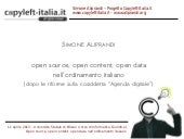Simone Aliprandi, Open source, open...