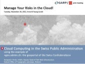 Manage Your Risks in the Cloud!