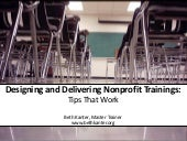 Designing Nonprofit Training