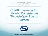 Slims improving librarian competences 20150508