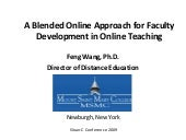 A Blended Online Approach for Facul...