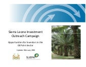 Sl oil palm investment opportunity ...
