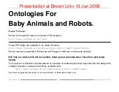 Ontologies for baby animals and rob...