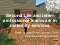 Second Life and inter-professional teamwork in maternity services