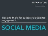 Tips and Tricks for successful audience engagement on social media