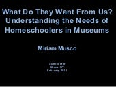 Homeschooling and Museums