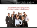 Certified Social Media Strategist Program 2010