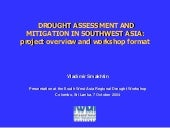 Drought Assessment and Mitigation i...