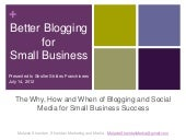 Small Business Blogging